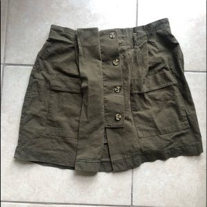 Army Green Paperbag Skirt